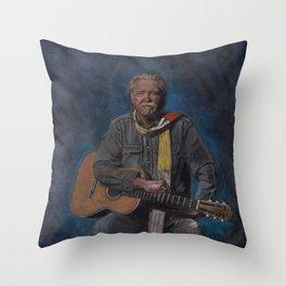 Guy Clark Throw Pillow
