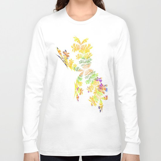 yellow butterfly Long Sleeve T-shirt