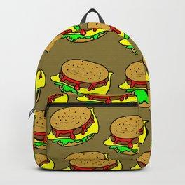 Cheeseburger Doodle Background Backpack