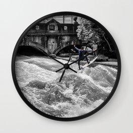Surfin' Munich Wall Clock