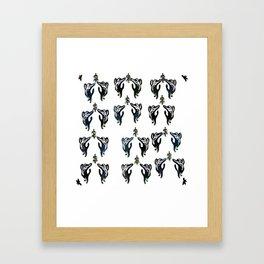 cats jumping for mistletoe Framed Art Print