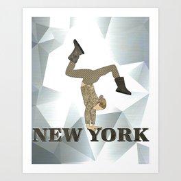 Gymnastics New York Art Print
