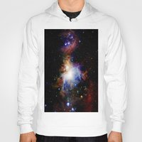 nebula Hoodies featuring Orion NebulA Colorful Full Image by 2sweet4words Designs