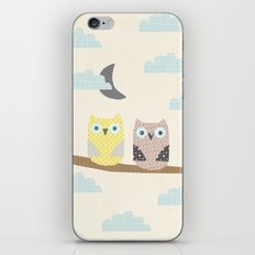 owls on a branch iPhone & iPod Skin