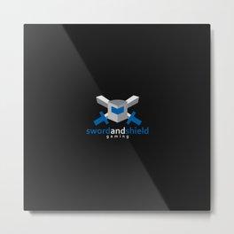 Sword & Shield Gaming Logo Metal Print