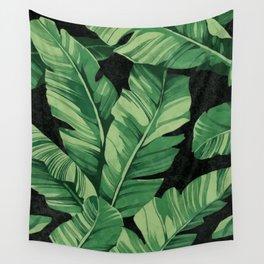 Tropical banana leaves II Wall Tapestry