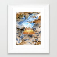 egypt Framed Art Prints featuring EGYPT by sametsevincer