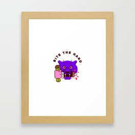 Bite the Hand Framed Art Print