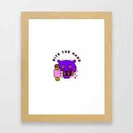 Bite the Hand Framed Art Print