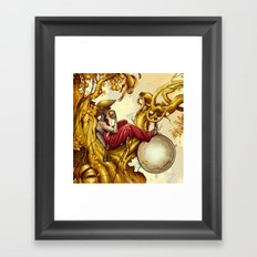 Golden Tree Framed Art Print