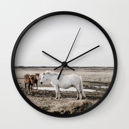 Scandinavian Horses Wall Clock