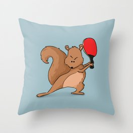 Talented Squirrel Throw Pillow