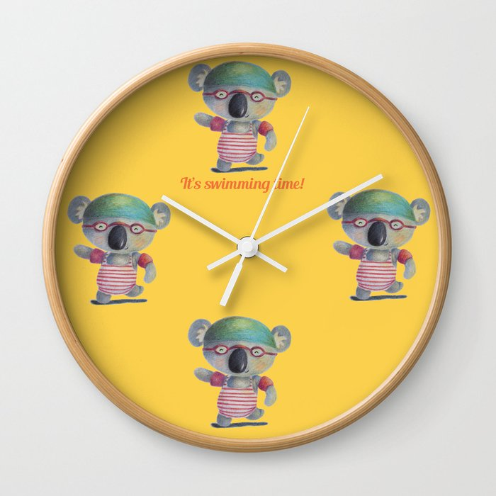 Swimming Time Wall Clock