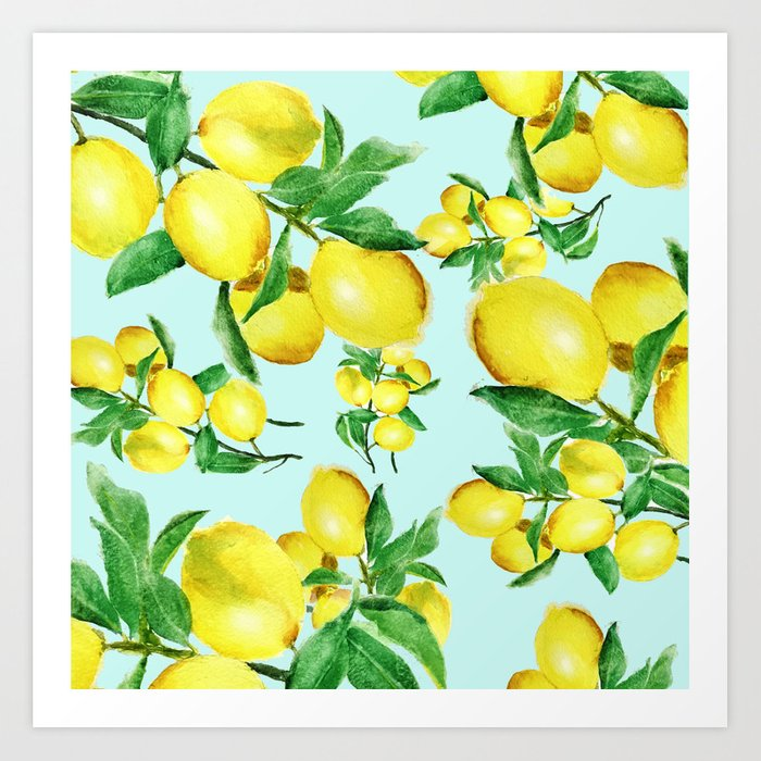 lemon 2 Art Print