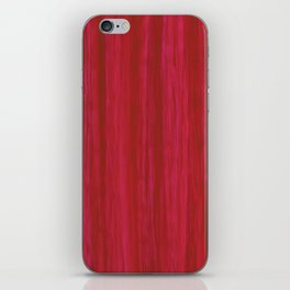 Strawberry Colored Vertical Stripes iPhone Skin