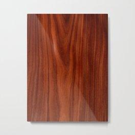 Beautiful red wood design Metal Print