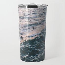 Into the Surf and Sun Travel Mug