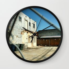 Fence 1, 2019 from Roberta Winters Photography Wall Clock
