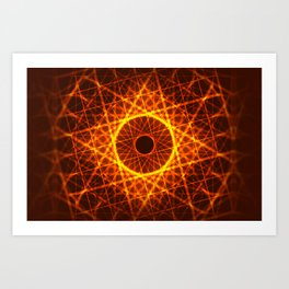 Fire Constellation Art Print