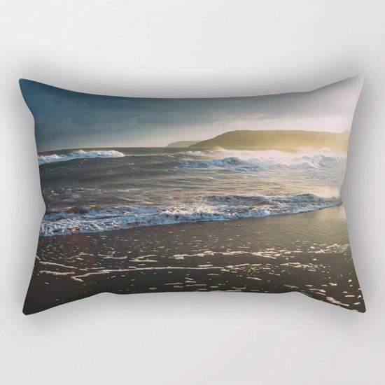 Misty Ocean #sunset Rectangular Pillow