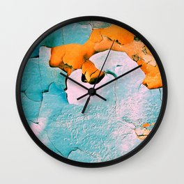 blue structure Wall Clock
