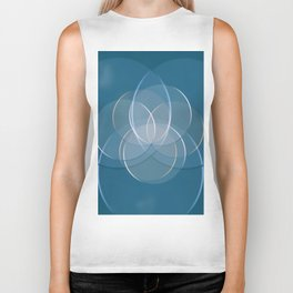 Blue Yoga Lotus Biker Tank