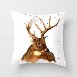 Beautiful Blitzen Throw Pillow