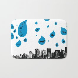 Raining Cats & Dogs Bath Mat