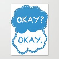 tfios Canvas Prints featuring TFIOS Dots by All Things M