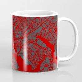 Baltimore map red Coffee Mug