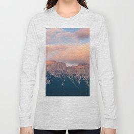 Pink Sunset over Mount Amazing Long Sleeve T-shirt