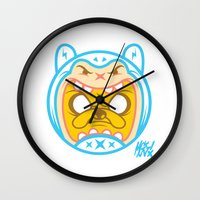 finn and jake Wall Clocks featuring Finn & Jake by Miguel Manrique