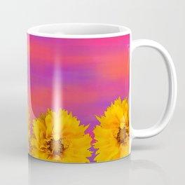 Yellow Floral Sunset Coffee Mug