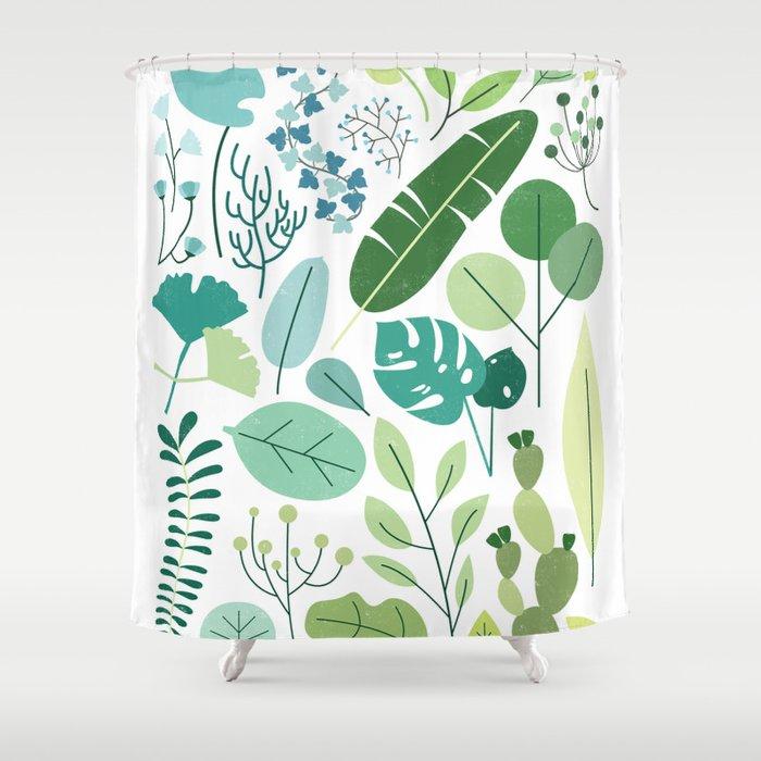 Botanical Chart Shower Curtain