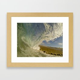 Shorebreak Barrel  6/13/14 Framed Art Print