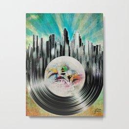 Austin on Vinyl Metal Print