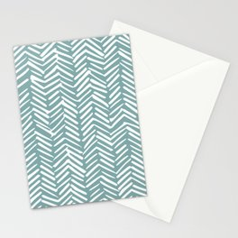 Herringbone, Christmas, Teal, Boho Art Stationery Cards
