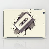 cassette iPad Cases featuring Cassette by One Curious Chip