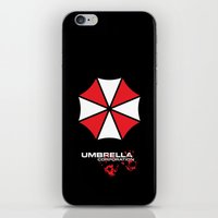 resident evil iPhone & iPod Skins featuring Most evil corporation ever! by aceofspades81