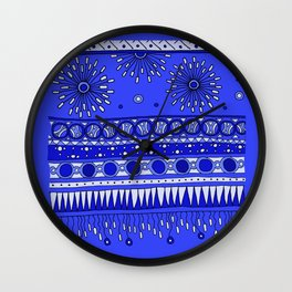 Yzor pattern 007-2 blue Wall Clock