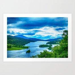Queens View Loch Tummel Art Print