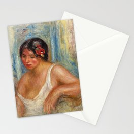 Sitting girl Stationery Cards