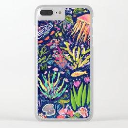 Ocean Blue Clear iPhone Case