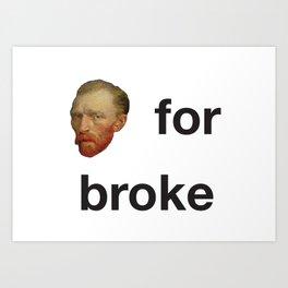 One-liners van Gogh Art Print