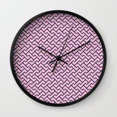 Interlocking - PINK & NAVY BLUE Wall Clock