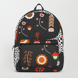 Acorns, flowers and a dotted river Backpack