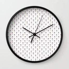 Pressed Buddleigha flowers Wall Clock