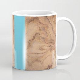 Wood Grain Stripes - Light Blue #807 Coffee Mug