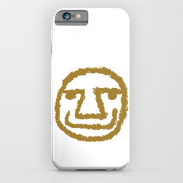 Minimalist Brush Stroke Face OO7 iPhone Case