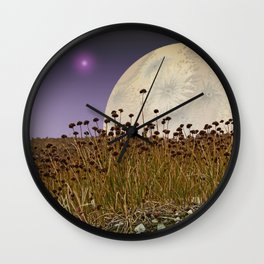 MOONRISE ON A DISTANT WORLD Wall Clock
